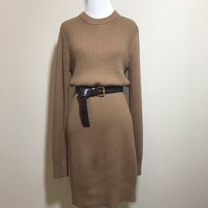 Michael Kors cable knit sweater dress